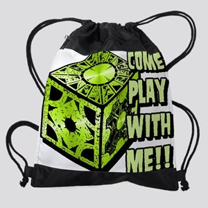 Puzzle Box 2 Lime Drawstring Bag